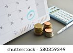monthly saving and planning... | Shutterstock . vector #580359349