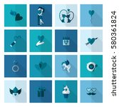 simple flat icons collection... | Shutterstock .eps vector #580361824