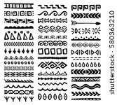 collection of hand drawn... | Shutterstock .eps vector #580363210