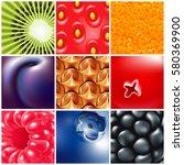 fruits and berries | Shutterstock .eps vector #580369900