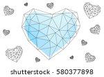 light blue vector heart... | Shutterstock .eps vector #580377898
