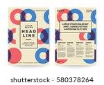 swiss style background for... | Shutterstock .eps vector #580378264