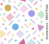 colorful geometric seamless... | Shutterstock .eps vector #580379266