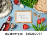 passover holiday concept with... | Shutterstock . vector #580380094