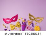purim holiday concept with... | Shutterstock . vector #580380154