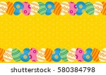 collection of easter theme... | Shutterstock .eps vector #580384798