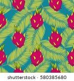 seamless vector pattern. exotic ... | Shutterstock .eps vector #580385680