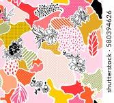 abstract vector seamless... | Shutterstock .eps vector #580394626