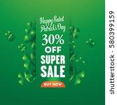 saint patrick's day banner set... | Shutterstock .eps vector #580399159