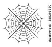 halloween spider web  black... | Shutterstock .eps vector #580399930