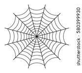 halloween spider web  black... | Shutterstock .eps vector #580399930