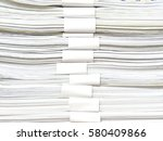 stack of office paper  isolated ... | Shutterstock . vector #580409866