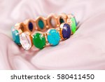 stylish bracelet with colorful... | Shutterstock . vector #580411450