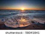 Photograph Of A Beach Sunset