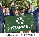 recycle nature world icon... | Shutterstock . vector #580421824