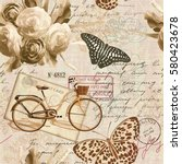 seamless vintage background... | Shutterstock .eps vector #580423678