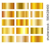 set of gold gradients on white... | Shutterstock .eps vector #580428400