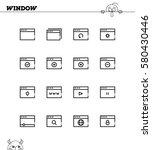 internet window flat icon set....