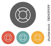 lifebuoy icon  | Shutterstock .eps vector #580439599