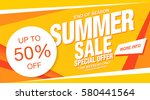summer sale banner template... | Shutterstock .eps vector #580441564