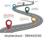 street road map  | Shutterstock . vector #580442530