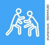 wrestling | Shutterstock .eps vector #580444180