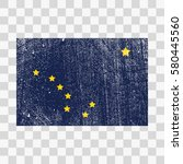 vector grunge styled flag of... | Shutterstock .eps vector #580445560