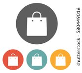 shopping bag icon  | Shutterstock .eps vector #580449016