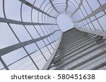 fire escape leading to roof... | Shutterstock . vector #580451638