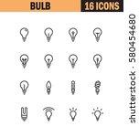 light bulb flat icon set.... | Shutterstock .eps vector #580454680
