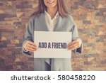 add a friend concept | Shutterstock . vector #580458220