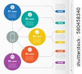 business presentation concept... | Shutterstock .eps vector #580458340