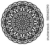 mandala for painting. vector... | Shutterstock .eps vector #580460290