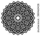 mandala for painting. vector... | Shutterstock .eps vector #580460428