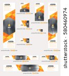 website banner set  different... | Shutterstock .eps vector #580460974