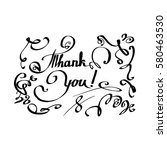 letering thank you  text for... | Shutterstock .eps vector #580463530