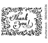 letering thank you  text for... | Shutterstock .eps vector #580463536