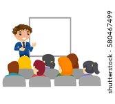 illustration of business man... | Shutterstock .eps vector #580467499