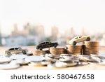 miniature car model and...   Shutterstock . vector #580467658