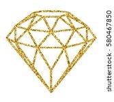 geometrical golden glitter... | Shutterstock .eps vector #580467850