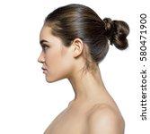beauty female portrait in... | Shutterstock . vector #580471900