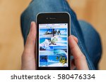 kyiv   february11  hand holding ... | Shutterstock . vector #580476334