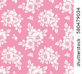 Seamless Pattern With Peonies....