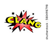cartoon clang colorful text... | Shutterstock . vector #580498798