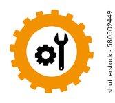 silhouette in shape of gear... | Shutterstock .eps vector #580502449