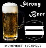 beer logo on a black background ... | Shutterstock . vector #580504378