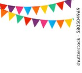 party background with flags... | Shutterstock . vector #580504969