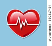 heart beat rate icon | Shutterstock .eps vector #580517494