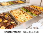 food buffet self service lunch... | Shutterstock . vector #580518418