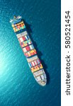 container container ship in... | Shutterstock . vector #580521454